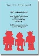 robot printable birthday invitations