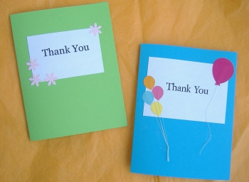 custom thank you card