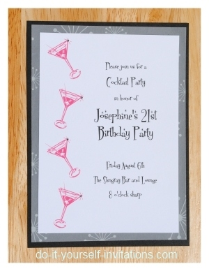 Make It Pop With Paper 21st birthday invitations