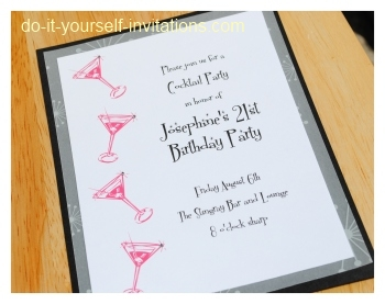40th birthday ideas do it yourself birthday invitation for Do it yourself wedding invitations templates