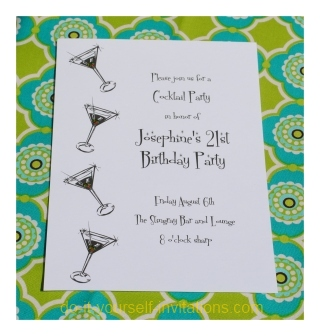 Add A Lil Bling 21st Birthday Invitations