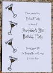 Cocktail Party/Martini Invitations - Pink and Orange.