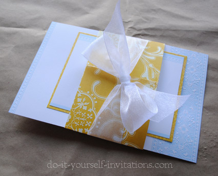 Creative DIY wedding invitations cheap