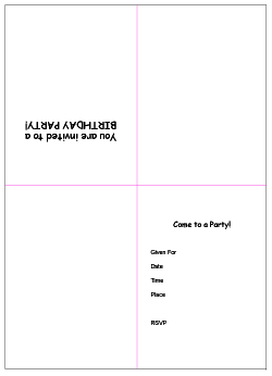 Free Printable Birthday Party Invitation Templates - Blank birthday invitation card templates