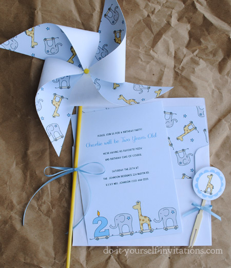 Printable 2nd Birthday Invitations: DIY Print And Make