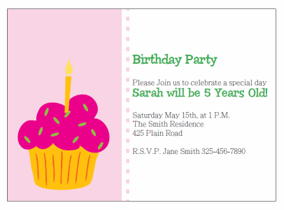 Printable cupcake birthday invitations filmwisefo