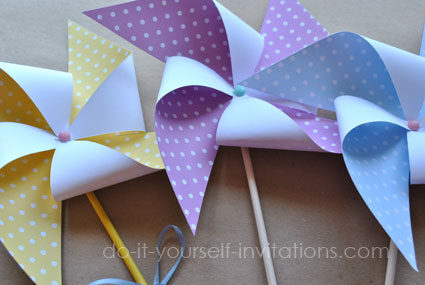 printable pinwheels party decorations