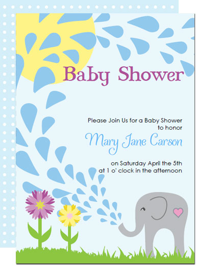 Printable elephant baby shower invitations templates elephant baby shower invitations solutioingenieria Gallery