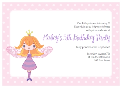 fairy princess party Invitations