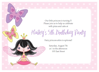 Fairy Party Invitations DIY Printable Fairy And Butterfly Kit - Party invitation template: princess party invitation template