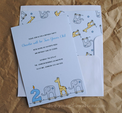 printable 2nd birthday invitations