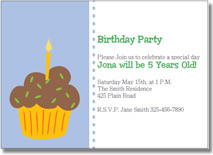 cupcake printable birthday invitations