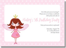 fairy princess birthday invitations
