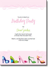 high heel stiletto printable birthday invitations