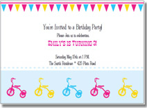 tricycle printable birthday invitations