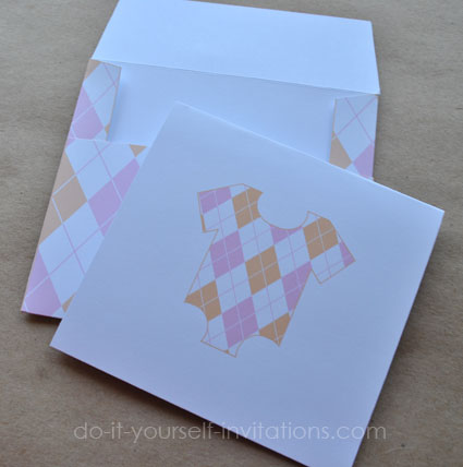 printable baby shower thank you notes and envelopes