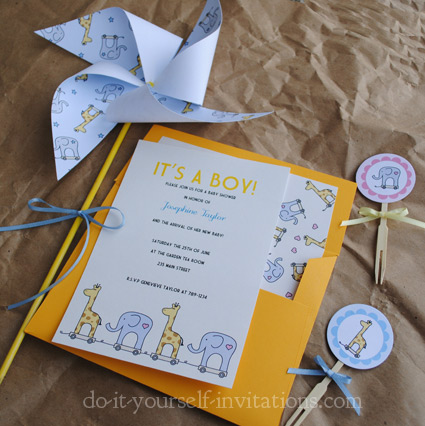 printable baby shower invitation kit includes 5x7 invitation envelope
