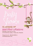 printable monkey baby shower invitations