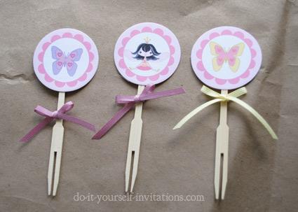 printable fairy princess cupcake toppers