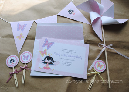Fairy Party Invitations DIY Printable Fairy And Butterfly Kit – Do It Yourself Party Invitations