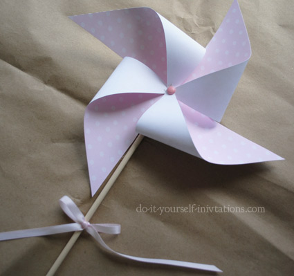 printable fairy princess birthday pinwheel