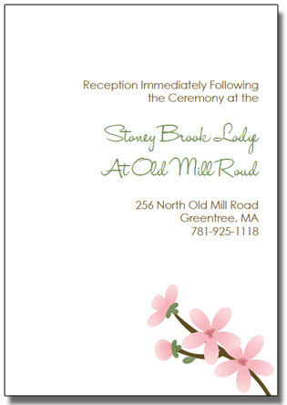 apple cherry blossom wedding invitation