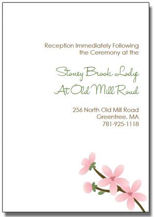 apple cherry blossom wedding invitation