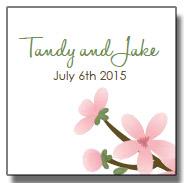 apple blossom wedding favor tags