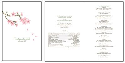 apple blossom wedding programs