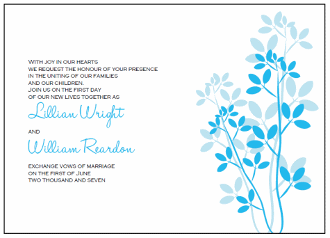 Leaves Printable Wedding Invitation Templates Throughout Invitations Templates