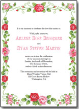 rose wedding invitations template