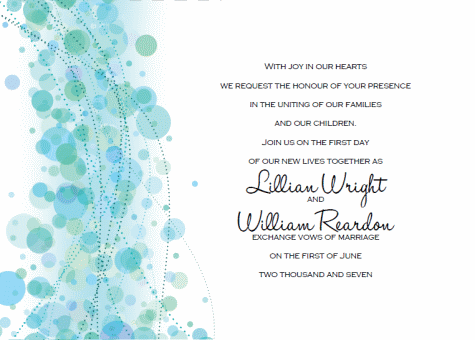 Printable Wedding Invitation Templates: Break Out The Blue Bubbly