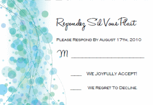 Printable wedding invitation templates break out the blue bubbly printable response cards stopboris Choice Image