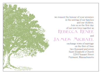 green tree invitation template