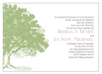 green tree invitation template