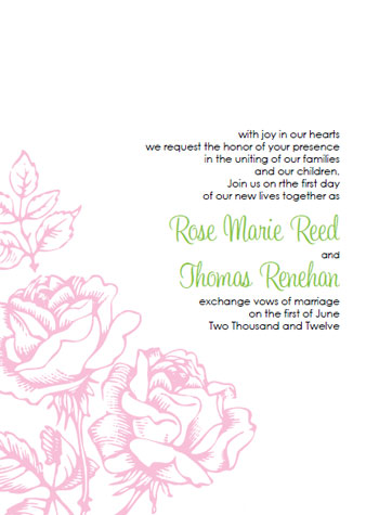 pink and brown wedding invitation templates