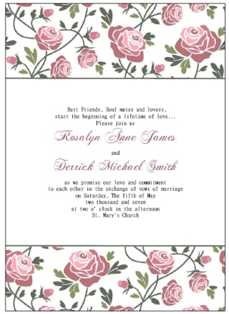 free printable wedding invitations templates
