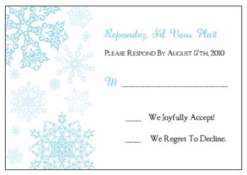 Printable snowflake wedding invitation kits purchase a la carte solutioingenieria Choice Image