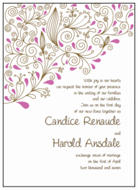 Free Templates For Wedding Invitations