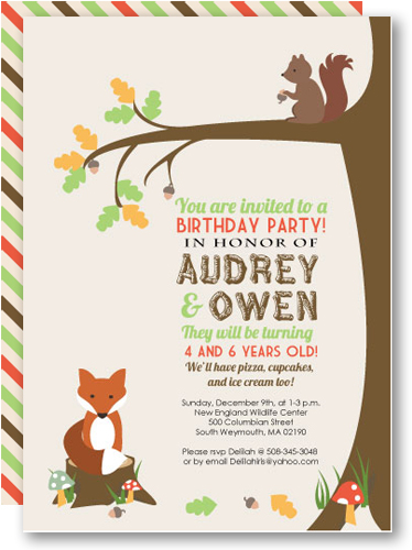 printable Woodland Invitations Kit