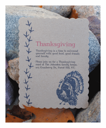Make thanksgiving invitations diy homemade holiday invitations thanksgiving invitations solutioingenieria Image collections
