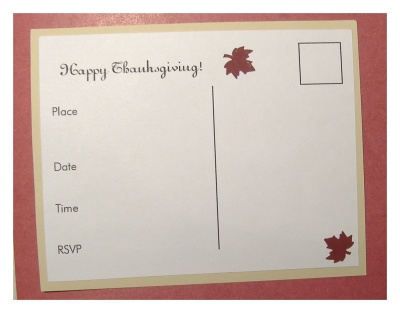 Make Thanksgiving invitations