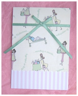handmade baby shower thank you card