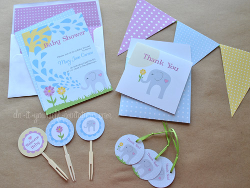 Printable baby shower invitations templates and kits filmwisefo Gallery