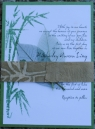 bamboo asian wedding invitations