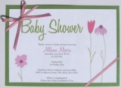 Make your own baby shower invitations flower invitation with template solutioingenieria Choice Image