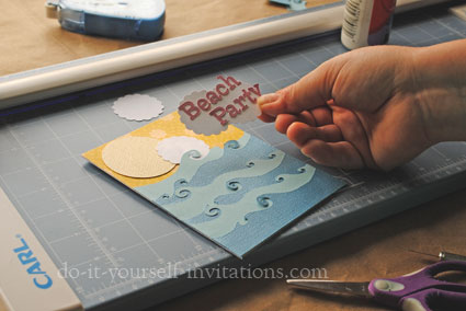 make diy beach party invitations