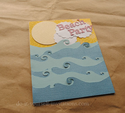 Make DIY Beach Party Invitations – Do It Yourself Party Invitations