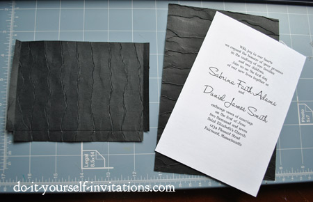 make diyblack and white wedding invitations