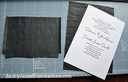 make diyblack and white wedding invitations